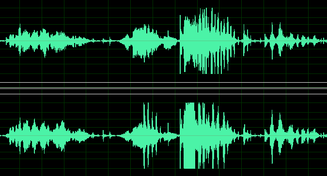 waveform of halli galli audio recording