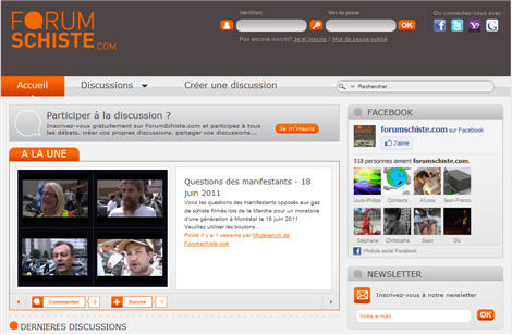 forumschistedotcom: shale gas social media site