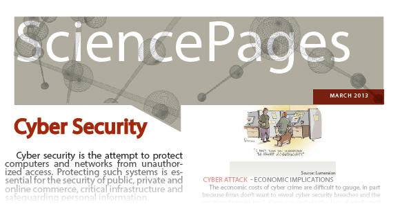 a screen capture of the Science Pages cyber security document