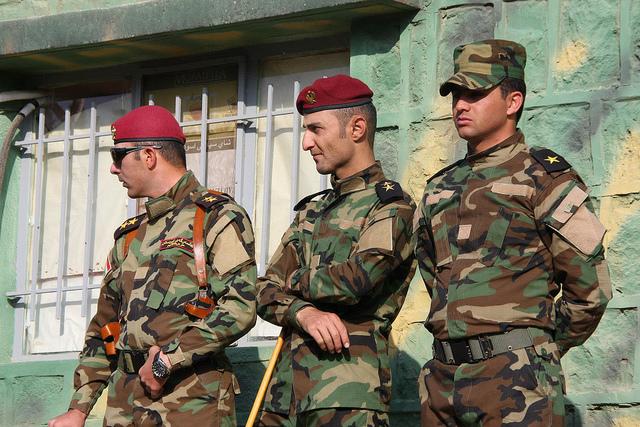 Kurdish Army forces