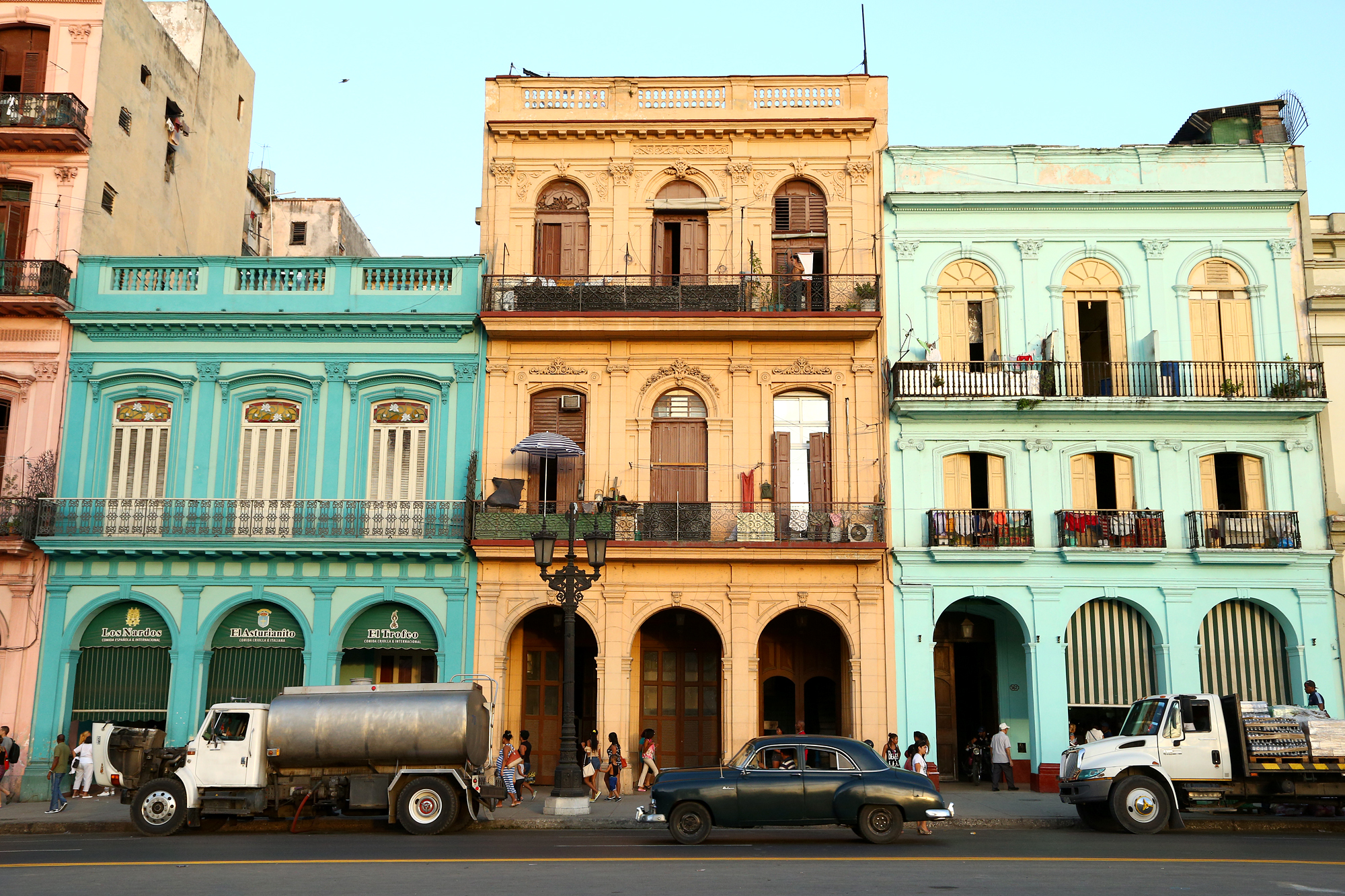 restored Spanish colonial houses in Havana