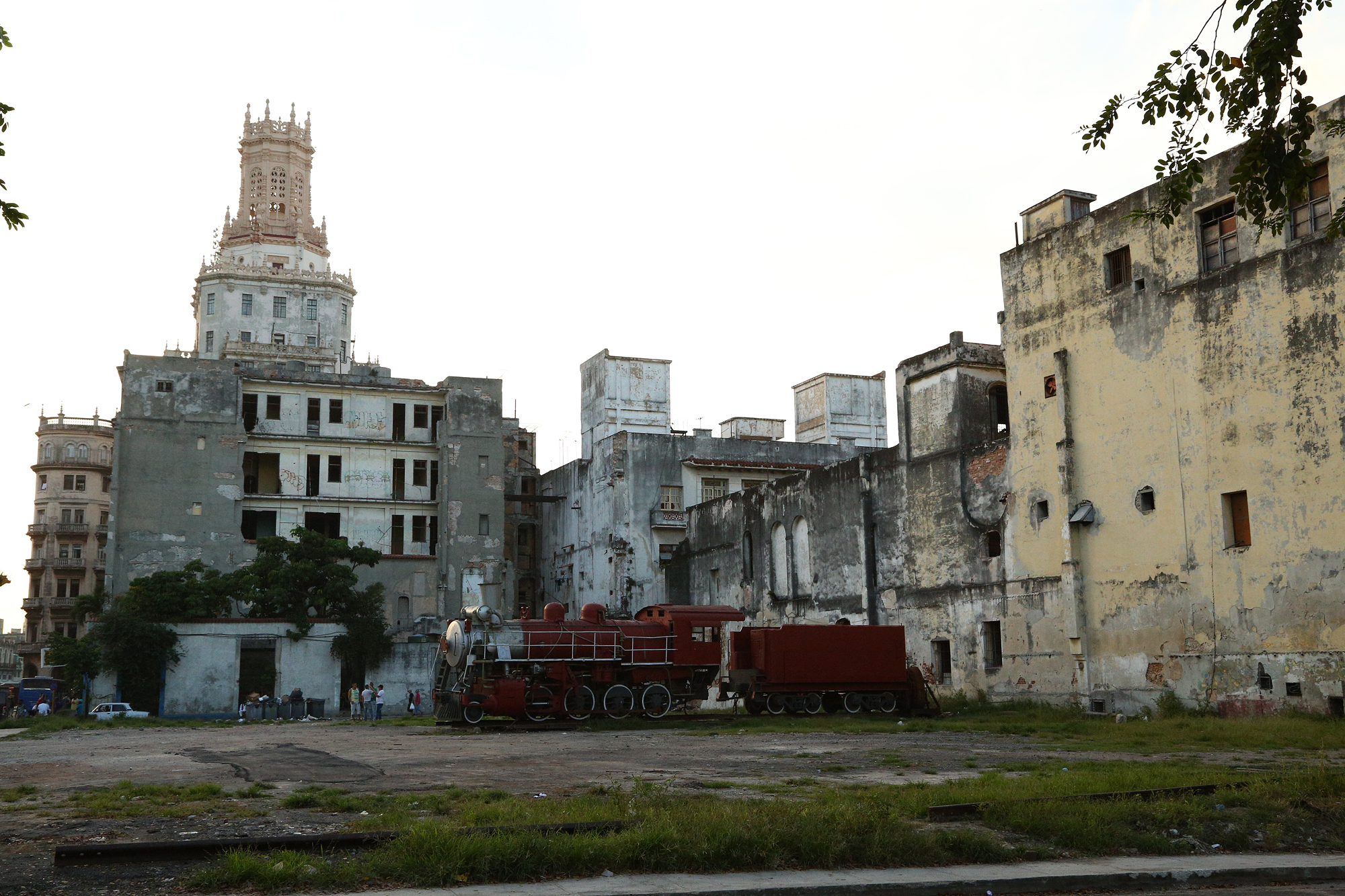 Run down buildings heading into Chinatown in Havana, Cuba
